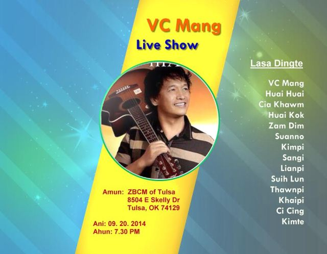 Zomi lasiam VC Mang in Tulsa khuapi ah Live Show neiding