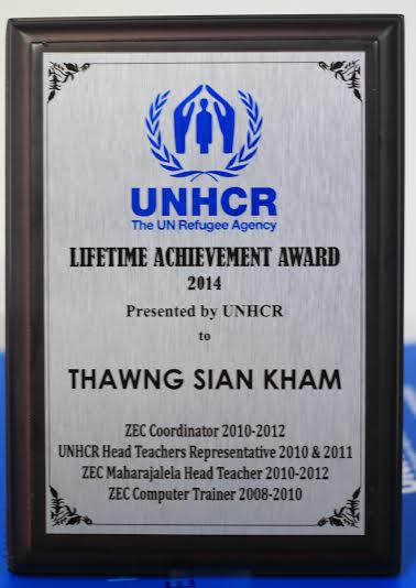 Lungdam kohna: UNHCR Lifetime Achievement Award 2014