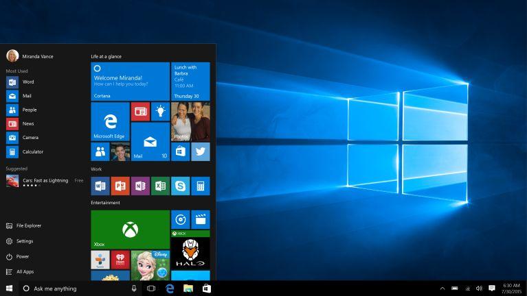 Microsoft Company te'n Windows 10 bawlbawlta
