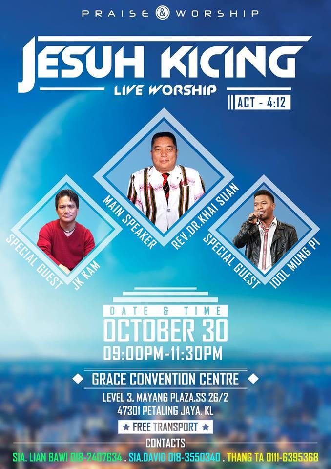 """""""Jesuh Kicing"""" Live Worship ah sapna"""