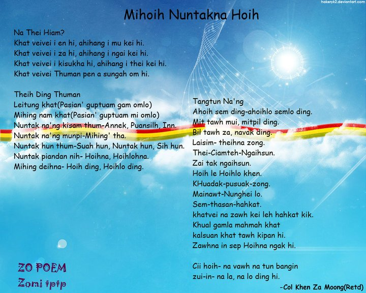 Mihoih Nuntakna Hoih ~ Col. Khen Za Mung