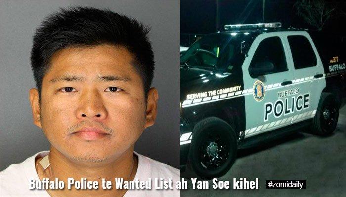 US Buffalo Police te Wanted List ah Kawlgammi khat kihel ~ ZD