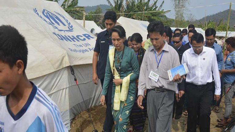 Aung San Suu Kyi Kachin State sung aom galtai te kiangah hawh