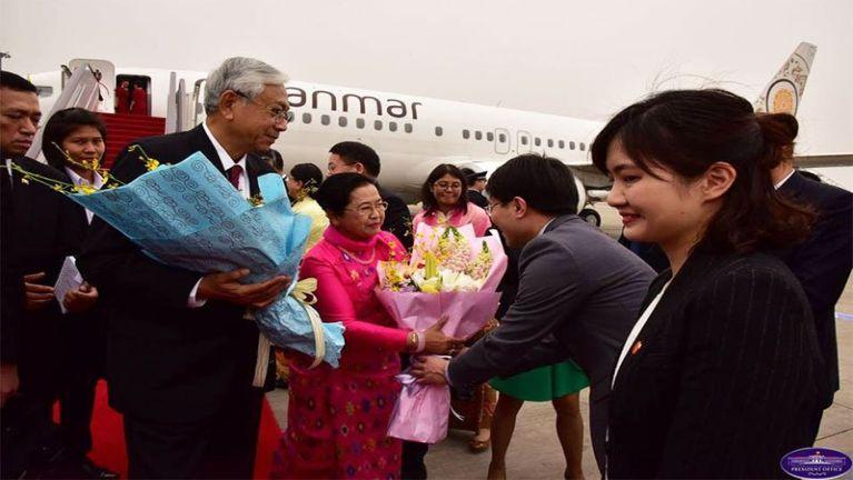 Myanmar President U Htin Kyaw China ah kumpivai tawh khualzin ~ ZD