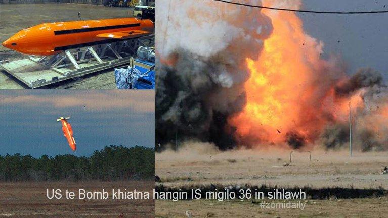 US galkapte'n Afghanistan gamsung Bomb akhiatna hangin IS migilo 36 si ~ ZD