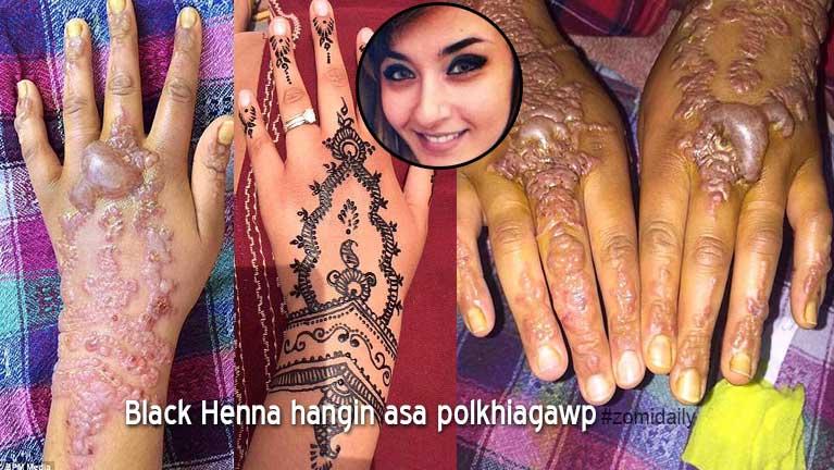 """Akhut tungah """"Black Henna"""" Tattoo asuaisak numeikhat asa polkhiagawp"""