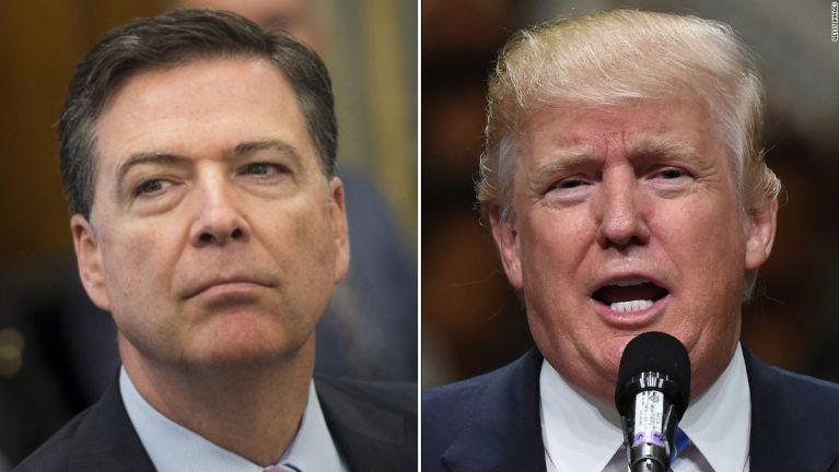 President Trump in FBI Director James Comey nasep bingkhawlsak