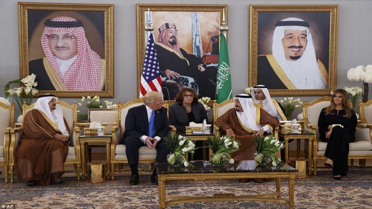 President Trump gampualam zinkhiat kipanta: Saudi Arabia