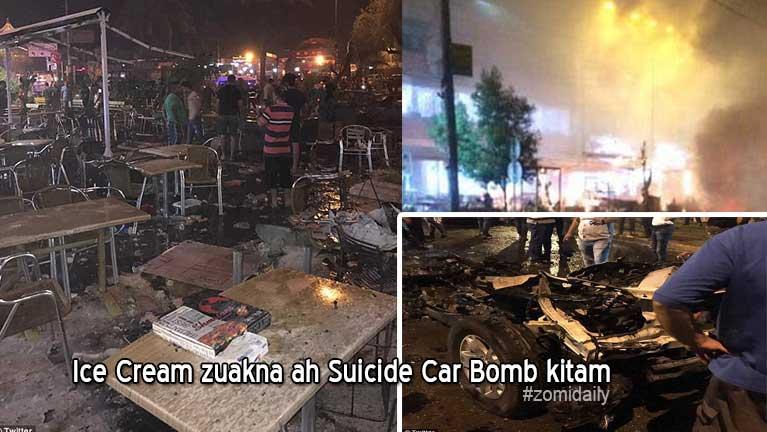 Baghdad khuasung Ice Cream kizuakna ah Suicide Bomb kitamin mi 16 si, 75 liam
