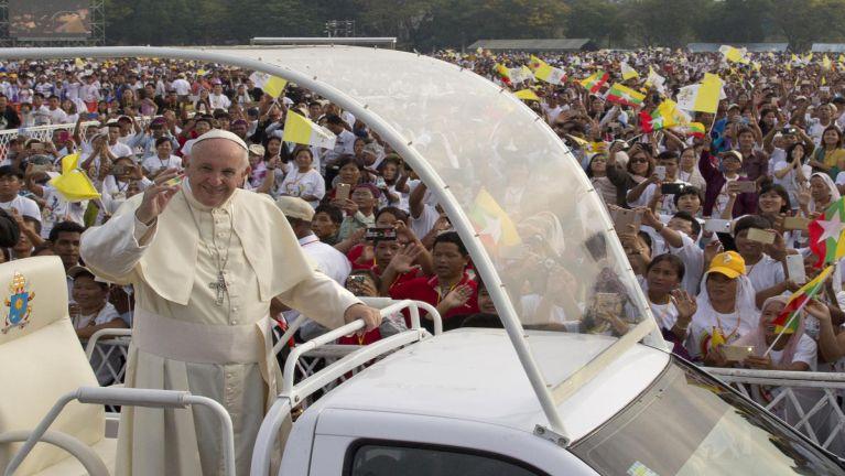 Yangon, Kyaikkasan tualpi ah Pope Francis thugenna leh Cardinal Charles BoThanksgiving speech