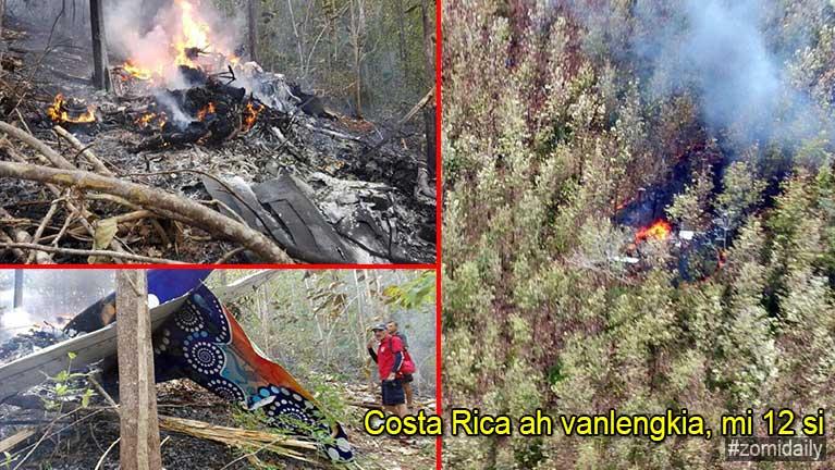 Costa Rica ah vanlengkia, mi 12 si in, US gammi 10 kihel