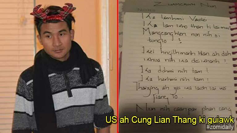 USA, Texas ah Cung Lian Thang amahleh amah khautawh ki khailum