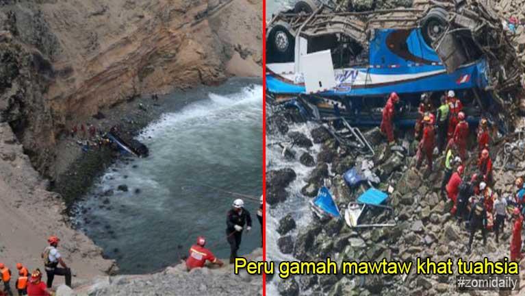 Peru gamah Passenger Bus khat tuahsia in, mi 48 sikhin, mi 6 liam