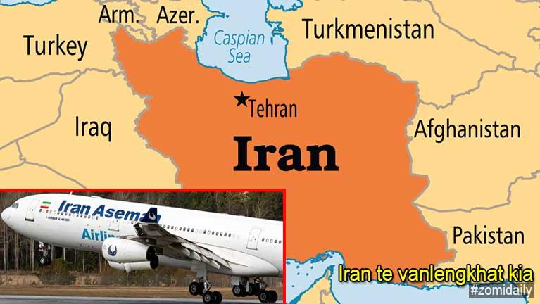 Iran gamsungah Passenger pua vanlengkhat kia, asungah atuang mi 66 avek un si