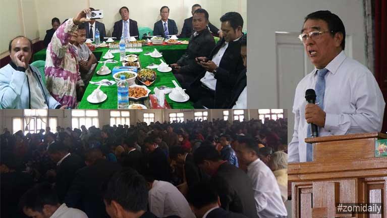 Rev. Go Nang (Agape MC) in Hakha khuapi amuhzia