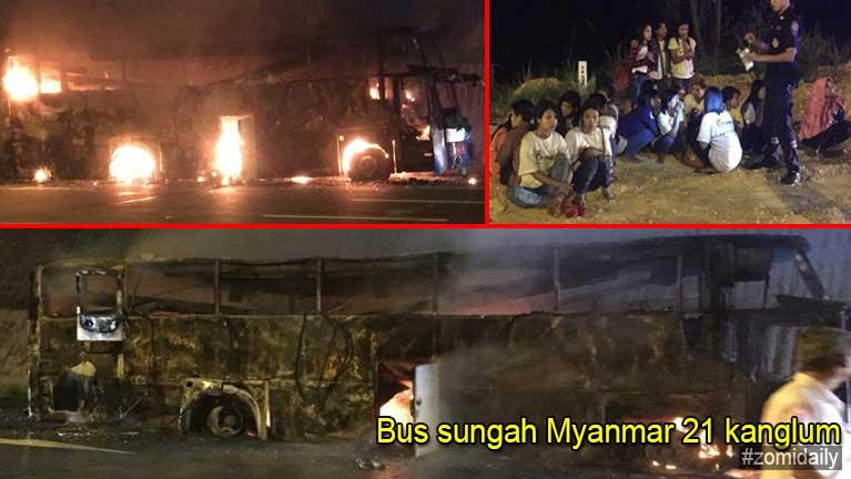 Thai gamsung ah Bus tuahsia in meikuanggawp, Myanmar 21 in sihlawh
