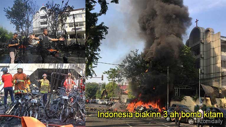 Indonesia gamsung aom biakinn 3 ah Bomb puakkham, mi 6 si in 35 liam