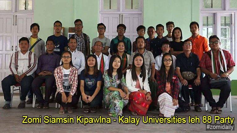 Zomi Siamsin Kipawlna – Kalay Universities leh 88 Party