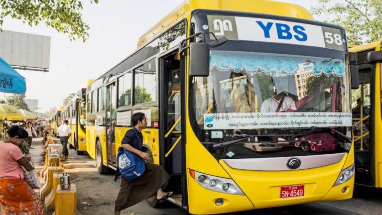 Yangon khuasung atai YBS Bus tungah Card tawh sumpiaktheih nading kigeelta