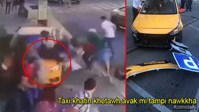 Russia gamsung ah Taxi Driver khatin khetawh khuasungvak mipi te nawkgawp, mi tampi liam
