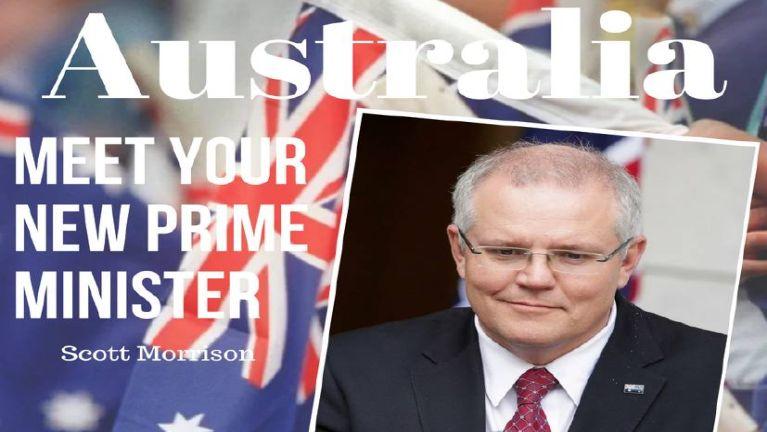 Australia Prime Minister Scott Morrison thu atom