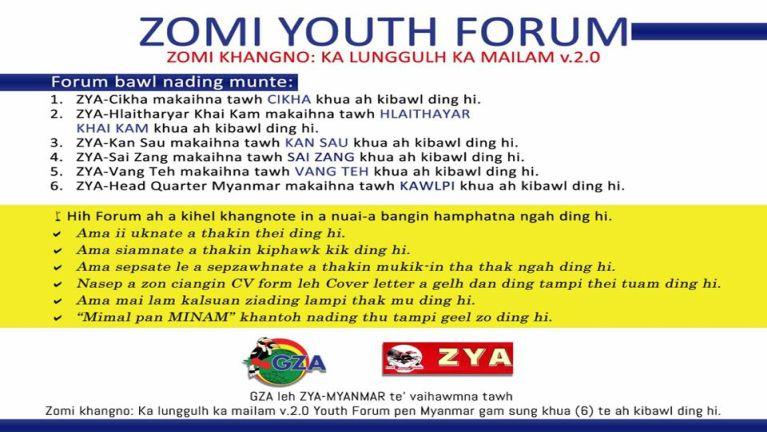 A 2 veina Zomi Youth Forum (Kawlpi)